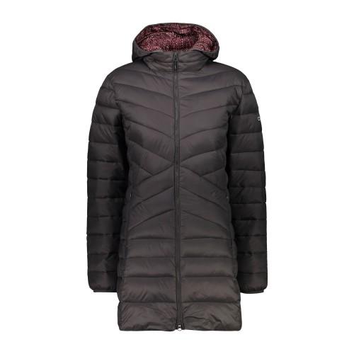 מעיל סינטטי ארוך מבודד לנשים