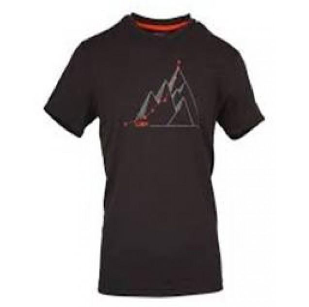 חולצה Dry-Fit מנדפת, ציור הרים, שרוול קצר