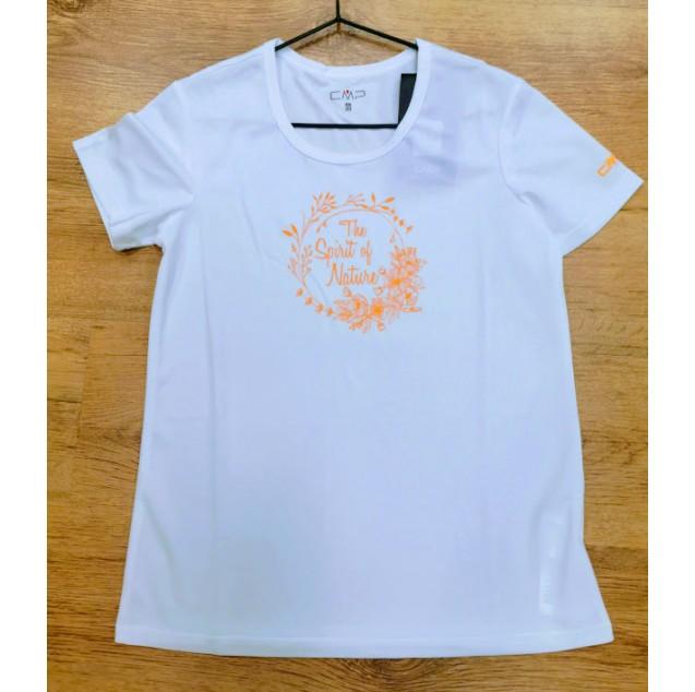 חולצה Dry-Fit מנדפת, ציור כתום, שרוול קצר